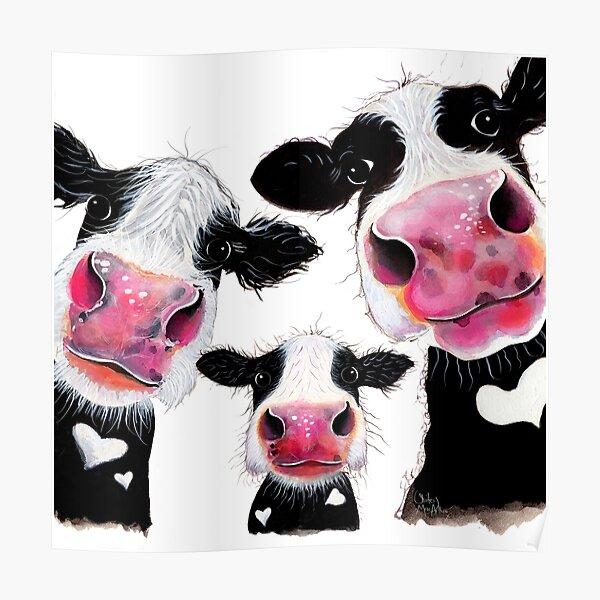 Hier ist ein weiterer meiner neugierigen Kuhdrucke 'THE nosy FaMiLY'.  Ich hoffe du magst sie!  Shirley x Poster