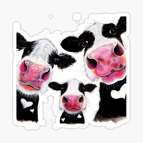 Hier ist ein weiterer meiner neugierigen Kuhdrucke 'THE nosy FaMiLY'.  Ich hoffe du magst sie!  Shirley x Sticker