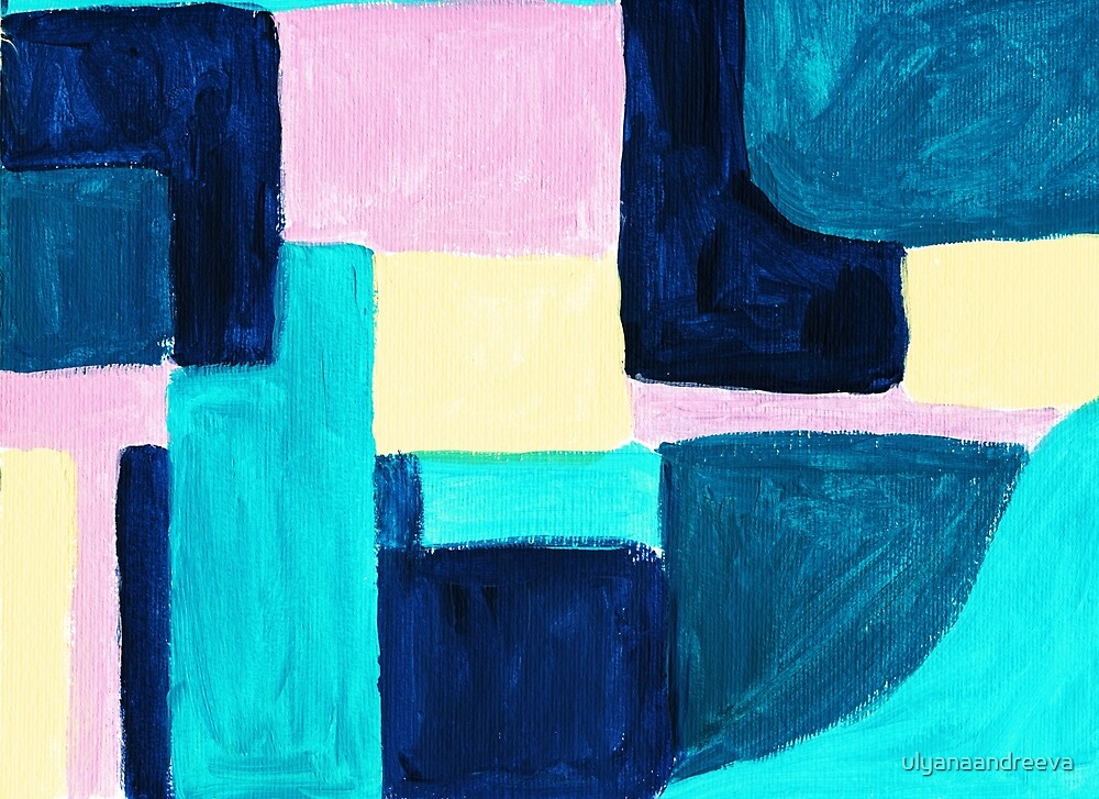 Abstract Painting With Shapes By Ulyanaandreeva Redbubble
