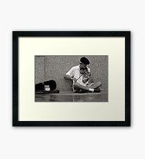 Cajun Fiddler Framed Print