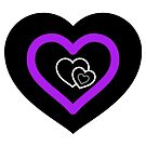 Asexualise Asexual Hearts Asexual Merchandise in Asexual Flag Colours by asexualise