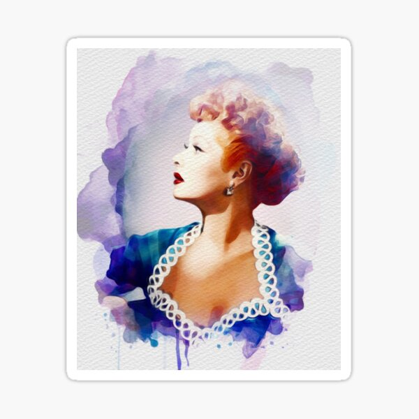 Lucille Ball, Vintage Hollywood Legend Sticker