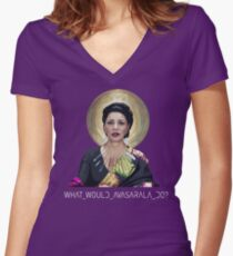 What Would Avasarala Do? Women's Fitted V-Neck T-Shirt