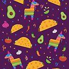 Taco Fiesta in Purple by latheandquill