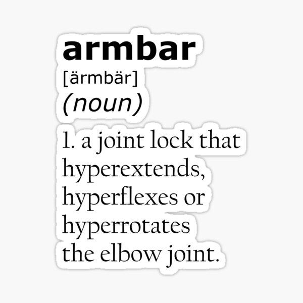 Armbar definition Sticker