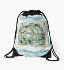 Winter Gardens With A Twist Drawstring Bag