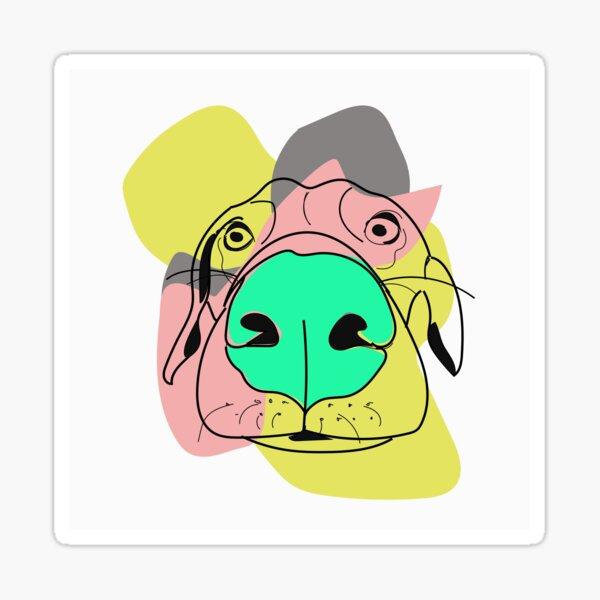Retro Dog Sticker