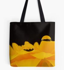Yellow Gerbera with waterdrops Tote Bag