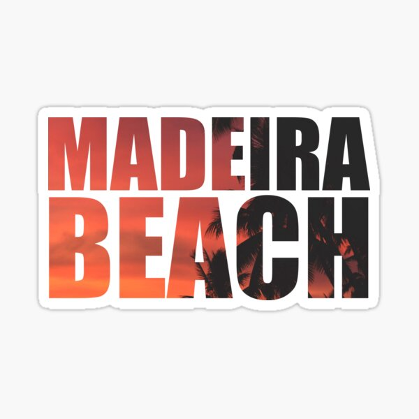 MADEIRA BEACH Beach Palm Tree Sticker