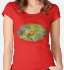 Tail-Wagging Prairie Warbler Women's Fitted Scoop T-Shirt