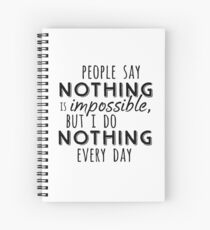 Winnie the Pooh: I Do Nothing Every Day Spiral Notebook