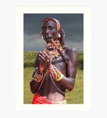SAMBURU WARRIOR - KENYA Art Print