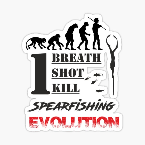Evolution Spearfishing Pegatina