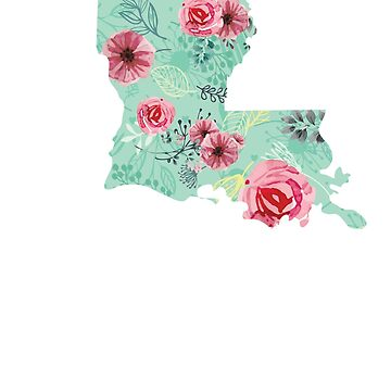 Floral Louisiana T-Shirt by tracemb