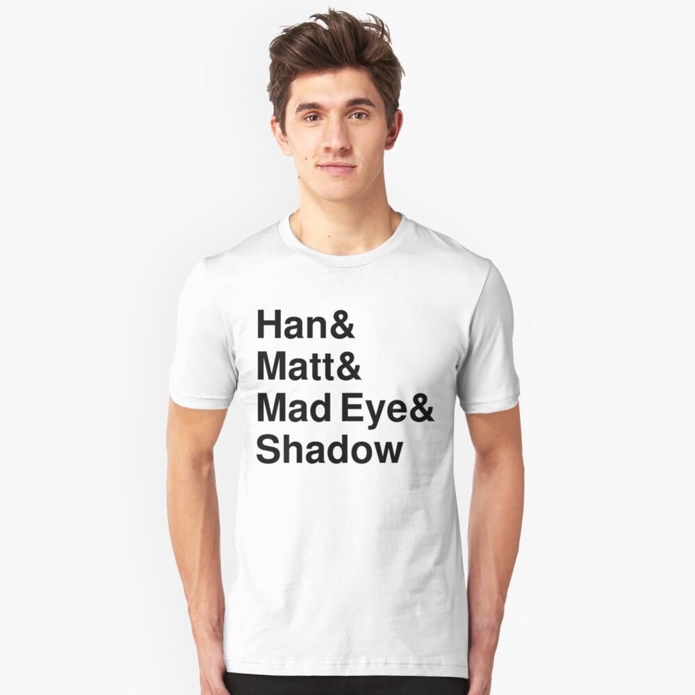 Han & Matt & Mad Eye & Shadow Slim Fit T-Shirt