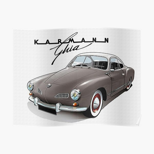 German Automobile Vintage Fifties Poster