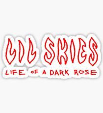 Lil skies - Life of a a dark rose Sticker