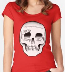 Post Malone Skull Tattoo Women's Fitted Scoop T-Shirt