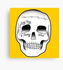 Post Malone Skull Tattoo Canvas Print