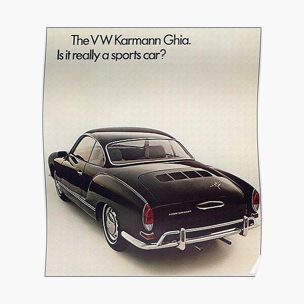 Karmann Ghia Vintage Fifties Poster