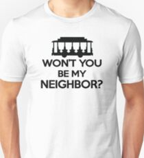 Wusstest du, dass du mein Nachbar bist? - Trolley-Logo Slim Fit T-Shirt