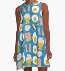 Kawaii Eggs For Breakfast A-Line Dress