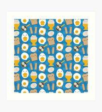 Kawaii Eggs For Breakfast Art Print