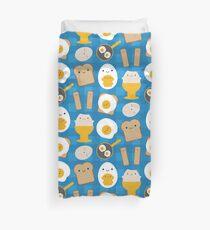 Kawaii Eggs For Breakfast Duvet Cover