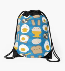 Kawaii Eggs For Breakfast Drawstring Bag