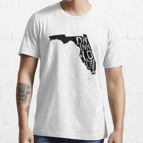 Drink Local Florida State Outline Craft Beer Essential T-Shirt