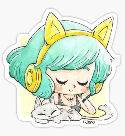 Casque oreilles chat Sticker