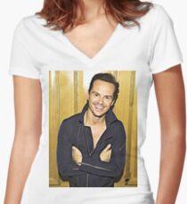 Andrew Women's Fitted V-Neck T-Shirt