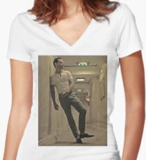 sexy Women's Fitted V-Neck T-Shirt