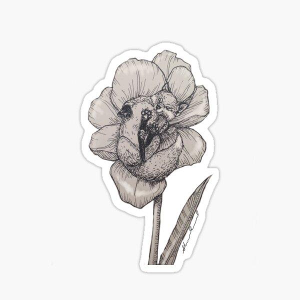Fox Garden Tulip Sticker