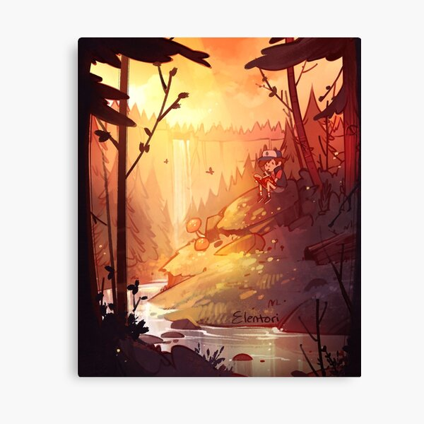 By the Falls Canvas Print