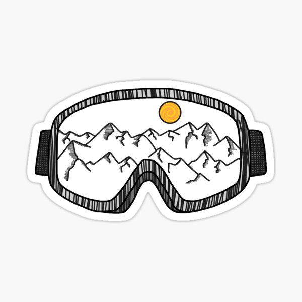 Skibrille Sticker
