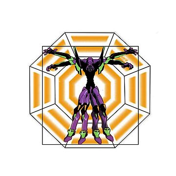 Evangelion Unit 01 - Vitruvian Man by KiaTheKing