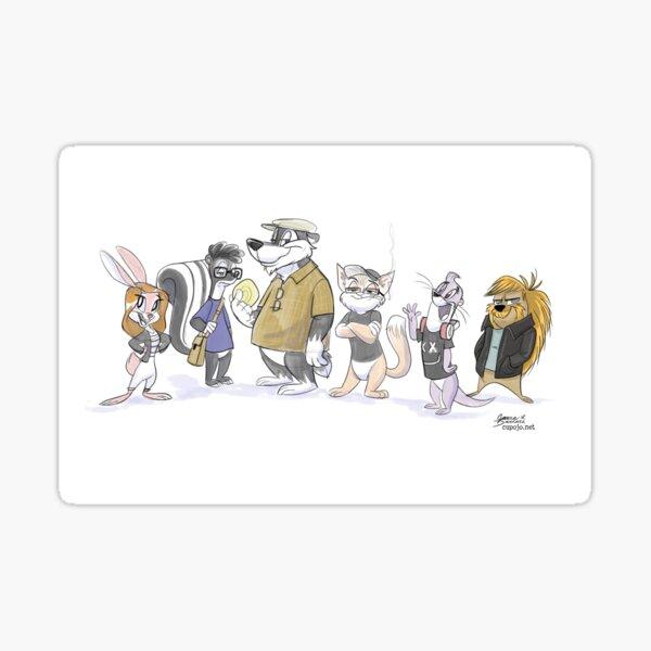 The EVH Cranky Critter Pals! Sticker