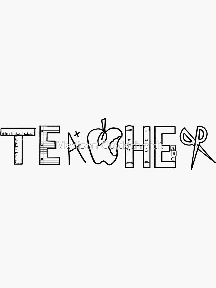 Teacher Logo by Silliesmn4