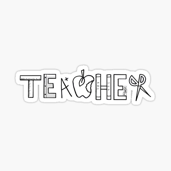Teacher Logo Sticker
