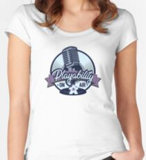 Playability Logo Women's Fitted Scoop T-Shirt