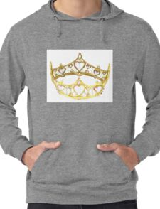 Queen of Hearts gold crown tiara by Kristie Hubler Lightweight Hoodie