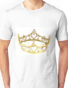 Queen of Hearts gold crown tiara by Kristie Hubler Unisex T-Shirt