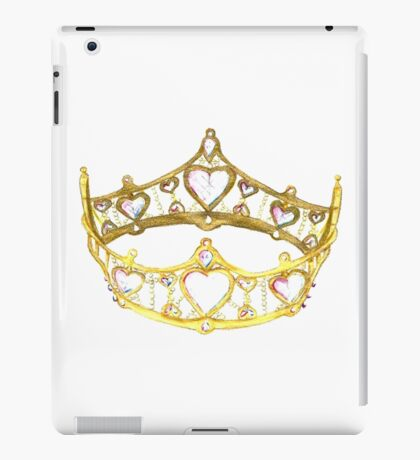 Queen of Hearts gold crown tiara by Kristie Hubler iPad Case/Skin