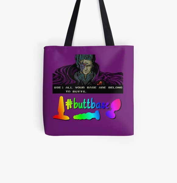 #buttbase Queer Sex Ed Tote Bag All Over Print Tote Bag