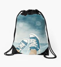 Blue Converse Drawstring Bag