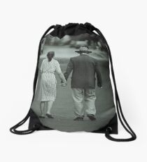 The Autumn years of the Lives Drawstring Bag