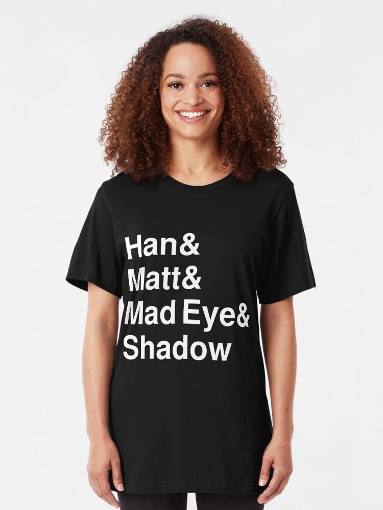 Alternate view of Han & Matt & Mad Eye & Shadow white Slim Fit T-Shirt