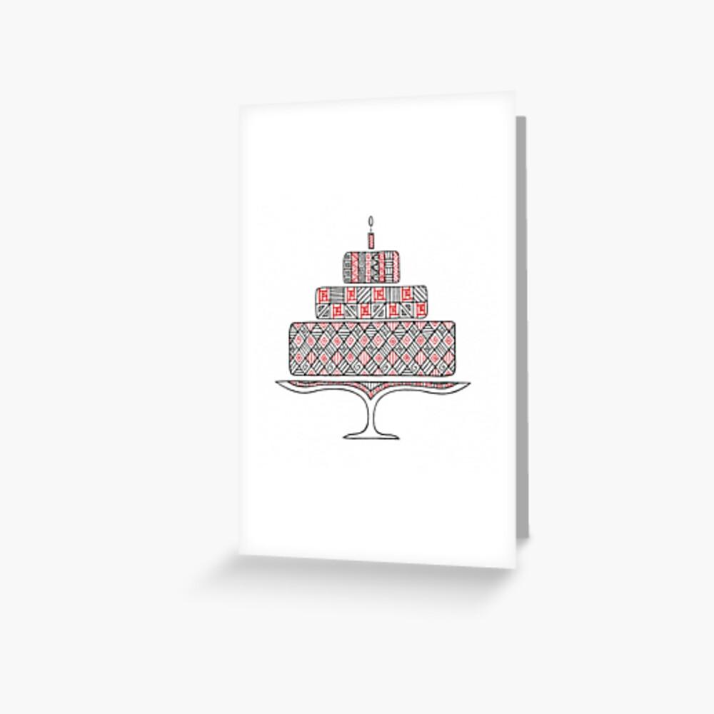 Patterned Cake Greeting Card