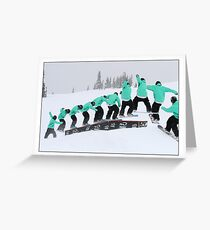 Snowboarding in the park Greeting Card